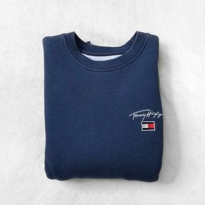 TOMMY HILFIGER Blue Crewneck Sweatshirt